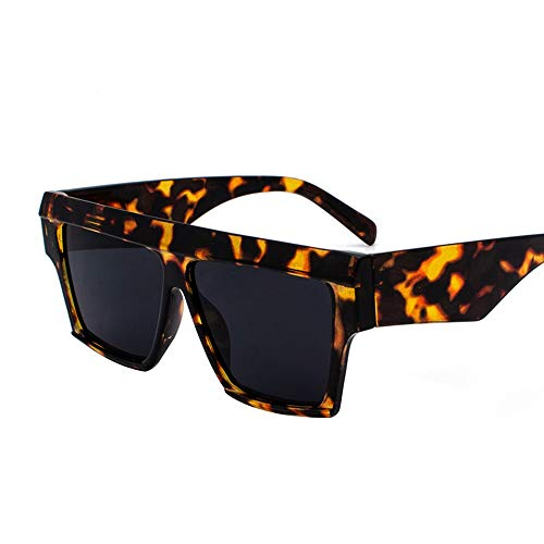 WHSS Gafas de Sol Gafas De Sol Cuadradas De La Personalidad Europa Y Los Estados Unidos Gafas De Sol Manchadas De Playa Gafas Retro Redondas