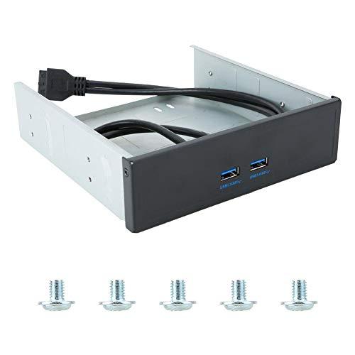ASHATA Pannello Anteriore USB, alloggiamento USB Hub 2 Porte Pannello Frontale USB3.0, Pannello Frontale USB 2.0 ad Alta velocità con Porta a 2 Porte ad Alta velocità Compatibile con Qualsiasi
