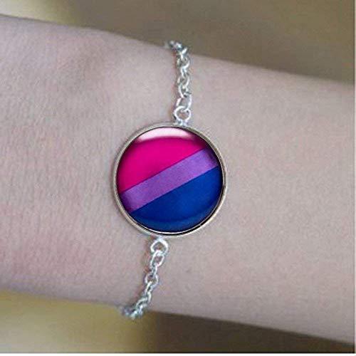 Pulseras de orgullo bisexual, bisexual, bandera de orgullo, color azul, morado, rosa