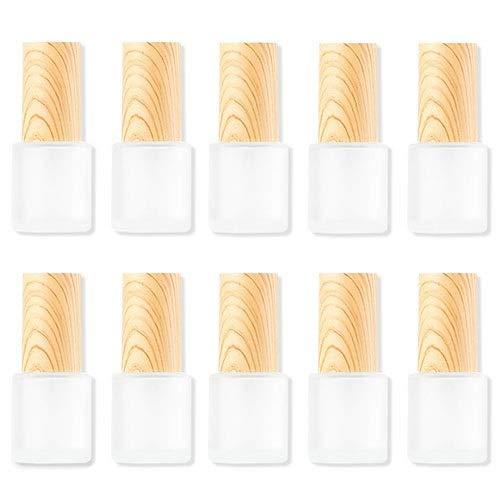 Botella De Spray Cristal 20ml, Pulverizador Cristal 10 Piezas, Aceites Esenciales Formulas Aromaterapia Y Otros Productos Cosméticos (Color : White)