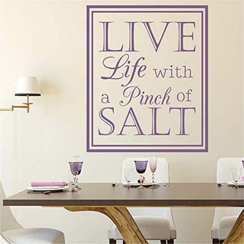 Vivityobert leven met een snufje zout muur stickers voor eetkamer woonkamer
