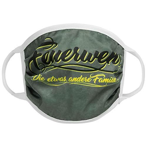 FIRE & FIGHT Streetwear Design-Mund-Nasen-Maske Feuerwehr Familie Textil-Accessoire Farbe gelb