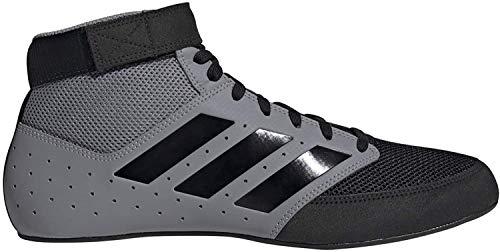 adidas Men's Mat Hog 2.0 Wrestling Shoe, Grey/Black/White, 8