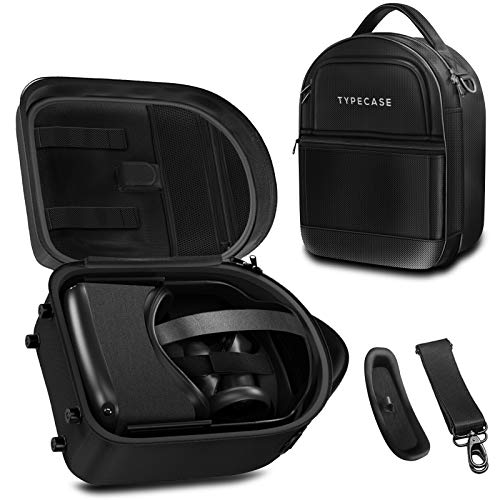 Typecase Oculus Quest 2 & 1 Case - Elite Strap Compatible - Hardshell Protective Carrying Case for Accessories and VR Headset with Shoulder Strap and VR Lens Cover