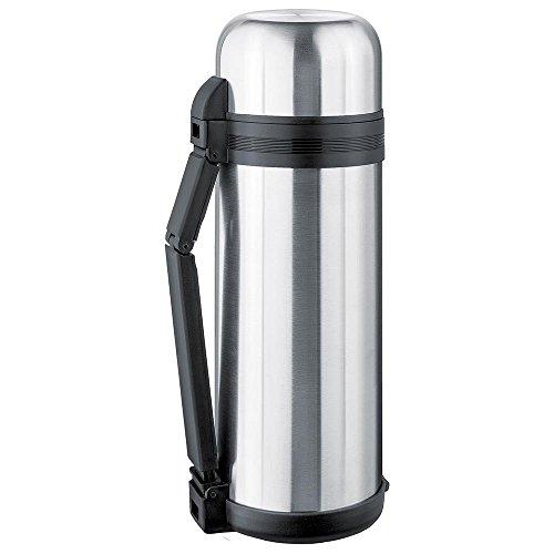 ISOSTEEL Isolierflasche Weithals 1,8 Liter, Silber