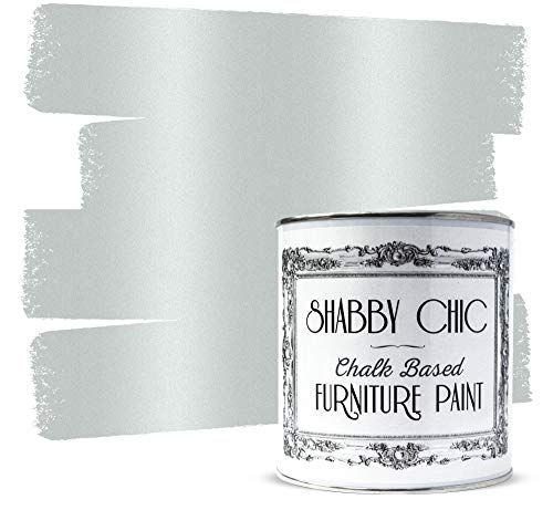 Shabby Chic Furniture Chalk Paint: Chalk Based Furniture and Craft Paint for Home Decor, DIY Projects, Wood Furniture - Chalked Interior Paints with Metallic Finish - 250ml - Antique Silver