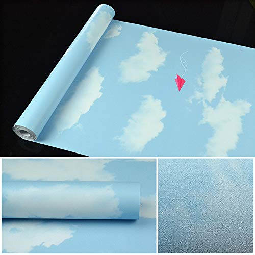 YHXY Tapete, Vinyl PVC weiß/grau Granit Dicke tapete möbel Aufkleber wasserdicht Anti-öl feuchtigkeitsfest arbeitsplatte Kunststoff Rolle 45cmx10m