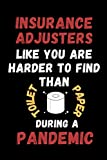 Insurance Adjusters Like You Are Harder To Find Than Toilet Paper During A Pandemic: Funny Gag Lined Notebook For Insurance Adjuster, A Great ... Christmas,Birthday Present From Staff & team