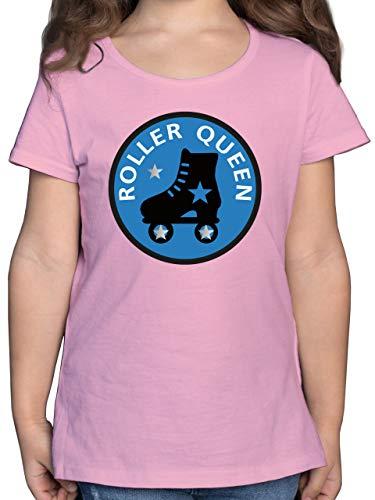 Sport Kind - Roller Queen Rollschuh - 116 (5/6 Jahre) - Rosa - F131K - Mädchen Kinder T-Shirt
