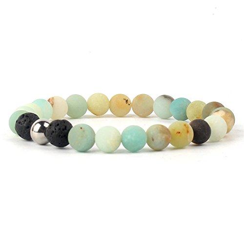 Price comparison product image Fashion Men's Black Lava Stone Gold Lion Buddha Beaded Charm Bracelet Cheapest
