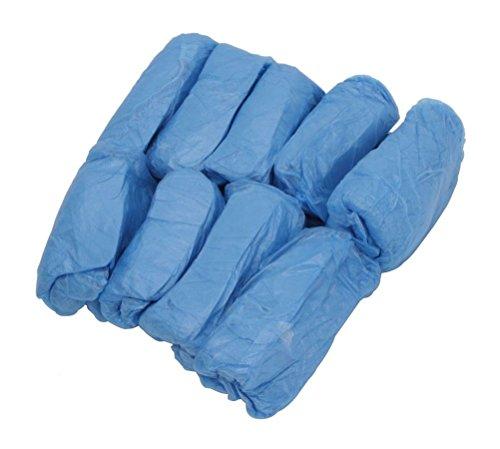 Yixinlifeas 100 Confezioni Unisex monouso in plastica per Scarpe Blu