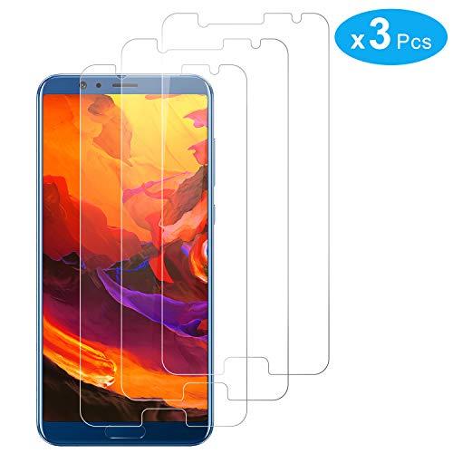 RIIMUHIR Protector De Pantalla De Vidrio Templado para Huawei Honor View 10 3 Pack Protector De Pantalla Sin Comprometer La Definición De La Pantalla