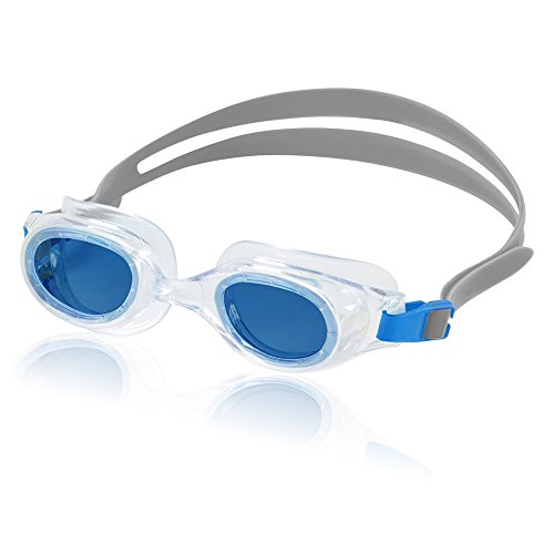 Speedo Hydrospex Classic Gafas de natación Unisex Talla única - Gafas de natación (Unisex, Talla única, Transparente, Azul Claro, Gris, Silicona)