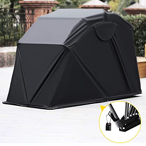 Mophorn Motorcycle Shelter Shed Strong Frame Motorbike Garage Waterproof 106.5 Inch X41.5 Inch X61...