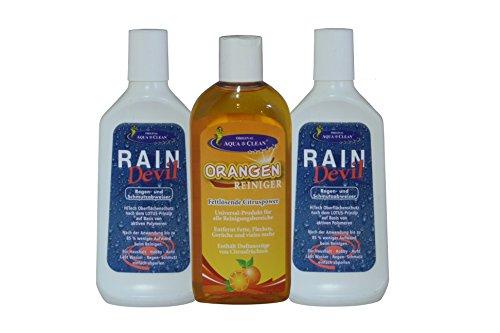 AQUA CLEAN Rain Devil + AQUA CLEAN Orangenreiniger Konzentrat 3er Set