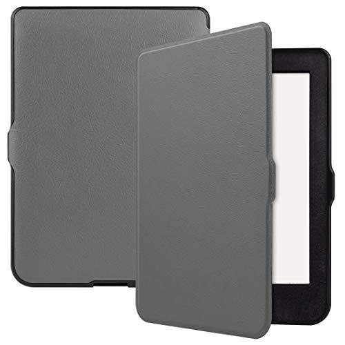 HH-Case para KOBO Nia 6 pulgadas Color sólido horizontal Flip TPU + PU Funda de piel con función de soporte/despertar hangma (color: gris)