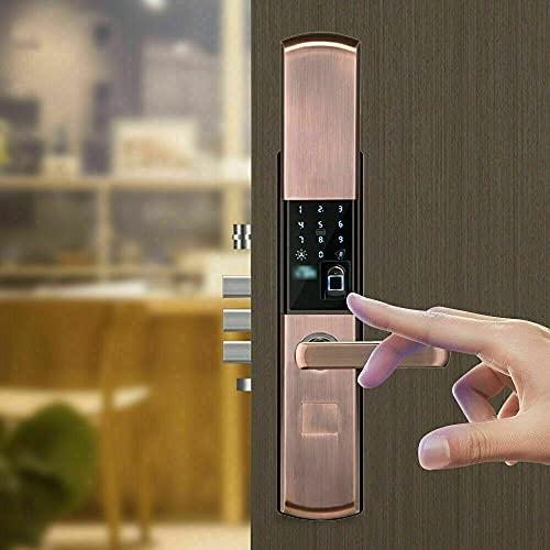 Cerradura para puerta con huella dactilar, cerradura biométrica de metal, sistema de control de acceso de huellas dactilares, control de acceso con teclado, tarjeta IC, 2 llaves mecánicas