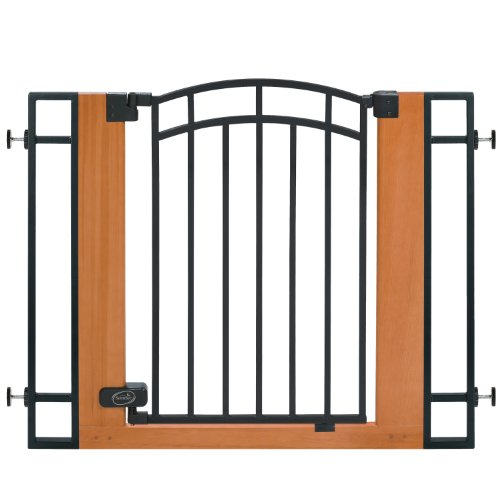 Big Sale Best Cheap Deals Summer Wood and Metal Walk-Thru Gate, Brown/Black