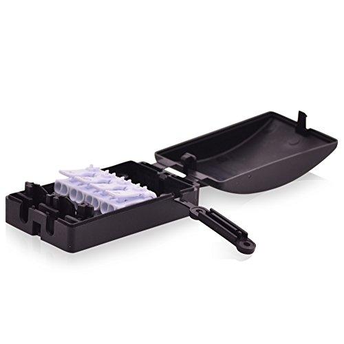 Klemmleistenbox Kabelverbinderbox 16A 450V T100 Verbinderbox mit Lüsterklemme 4 Wege in schwarz