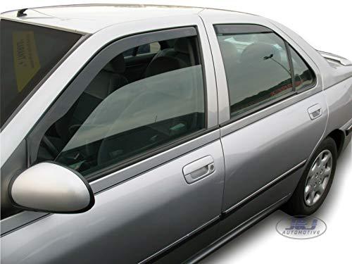 J&J Automotive - Deflectores de viento para Peugeot 406 Limousine 1995-2003, 4 unidades
