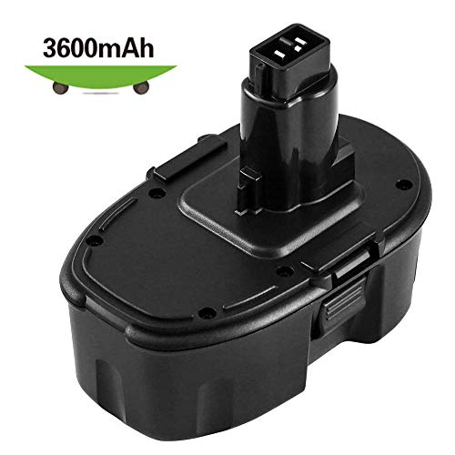 [Upgraded 3600mAh] Ni-Mh DC9098 Replacement for Dewalt 18V Battery XRP DC9096 DC9099 DW9095 DW9096 DW9098 DW9099 DE9039 DE9095 DE9096 DE9503 DE9098 DC9181 Cordless Power Tools