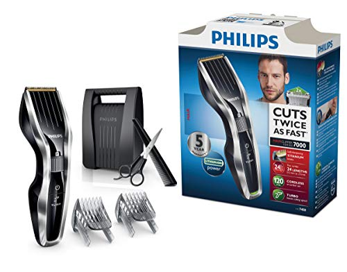 Philips HAIRCLIPPER Series 7000 HC7450/80 - Afeitadora (0,5 mm, 2,3 cm, 4,1 cm,...