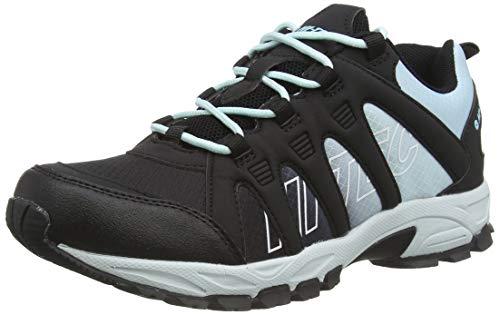 Hi-Tec Warrior Womens, Zapatillas para Caminar Mujer, Carbón Neblina Azul, 36 EU