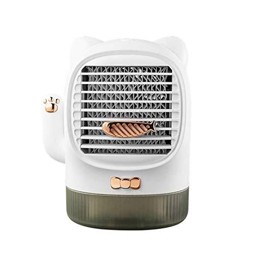 WLQWER Tragbarer Lüfter, USB-Lüfter, Luftkühler, Kleine Klimaanlage Lüfterbefeuchter Für Zuhause, Büro, Fahren, Reisen