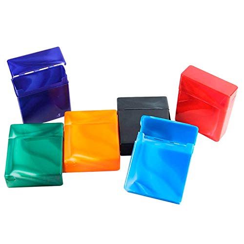 kogu Set mit 6 Zigarettenboxen für 25 Zigaretten - Bunte Zigarettenetuis ohne Steg, marmoriert
