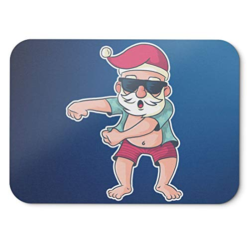 BLAK TEE Funny Santa Floss on Summer Holiday Mouse Pad 18 x 22 cm in 3 Colours Blue