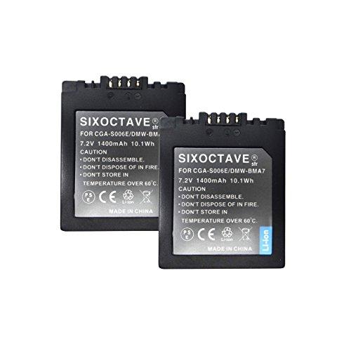 【str】Panasonic パナソニック LUMIX ルミックス DMW-BMA7 大容量完全互換バッテリー1400mah(グレ-ドAセル使用 純正充電器で充電可能 残量表示可能 純正品と同じよう使用可能)2個セット ルミックス DMC-FZ50 / DMC-FZ30 / DMC-FZ7 / DMC-FZ8 / DMC-FZ18 / DMC-FZ38 / DMC-FZ28