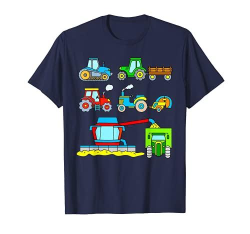 Cosechadora y Tractor Vehiculos Agricolas Niño Hombre Mujer Camiseta