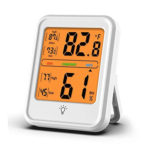 JSFDSUCM Thermometer Digital Temperature/Hygrometer Indoor and Outdoor Temperature and Humidity Meter C/F LCD Display Sensor Probe Weather Station