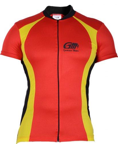 Camiseta Camiseta de ciclismo bicicleta camiseta de bicicleta Ciclismo Camiseta maillot Rojo/Amarillo...