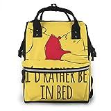 Mochila para pañales Pooh Rather Be in Bed multifunción impermeable mochila de viaje bolsas de pañales