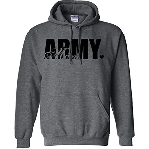 Army Mom Hooded Sweatshirt in Dark …