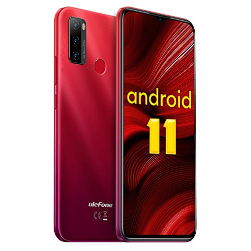 Ulefone Note 10 - Teléfono Móvil Libres Android 11 4G Octa-Core, 6.52'' HD+ Smartphone Libre, Batería 5500mAh, 2GB RAM 32GB ROM (SD 128GB) Dual SIM Moviles Baratos, Cámara Triple 8MP con IA, OTG