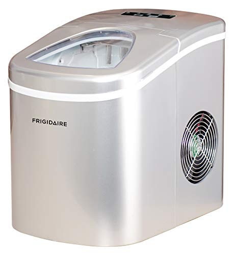 Frigidaire EFIC108-SILVER Counter top Portable, 26 lb per Day Ice Maker Machine, Silver