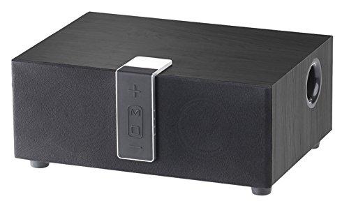 auvisio Multiroomlautsprecher: WLAN-Multiroom-Lautsprecher mit Subwoofer, BT, Airplay, 80 W, schwarz (W-LAN-Lautsprecher)