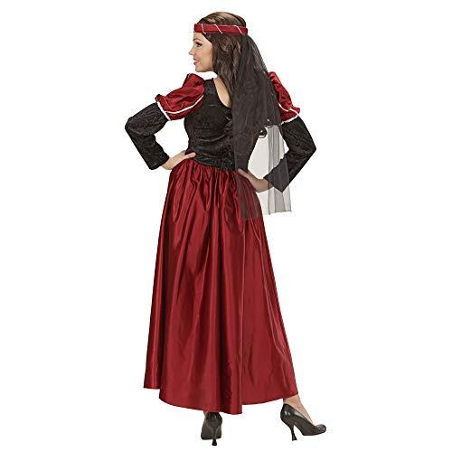 Widmann 35482 – Erwachsenenkostüm Burgfräulein, Kleid mit Kopfbedeckung und Schleier - 3