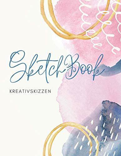 SketchBook Watercolor Pastellregen: Notizbuch blanko Zeichenpapier A4, 120 Seiten | Zeichenblock für Künstler Profi, Anfänger, Erwachsene, ... Schreiben, Malen, Kritzeln und Skizzieren