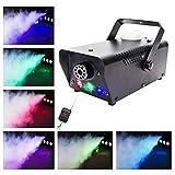 UKing Nebelmaschine 500W mit LED und Funk Fernbedienung RGB Lichteffekte für Halloween Hochzeit DJ...