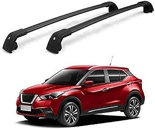 Chebay Fits for Nissan Kicks 2018 2019 Crossbar Cross bar Roof Rail Rack Lockable Black