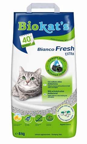 Biokat's Bianco fresh extra con carbone attivo antibatterica profumata 8 kg 40 gg