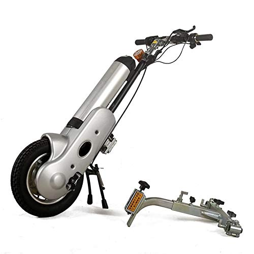 L-YINGZON Silla de Ruedas eléctrica Mejor Precio 36V / 12AH Handbike eléctrico Manual de manejo de la Cabezal de la cabecera Tracción de la Cabeza Booster para discapacitados