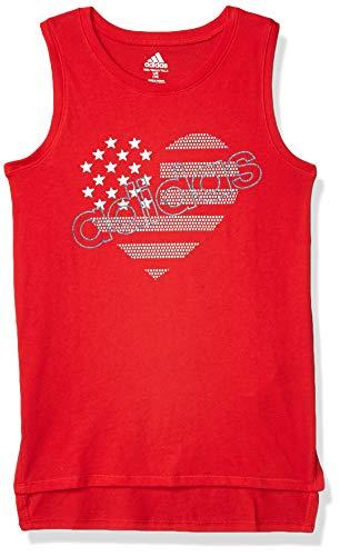 Camiseta sin mangas Adidas para niña -  Rojo -  X-Large