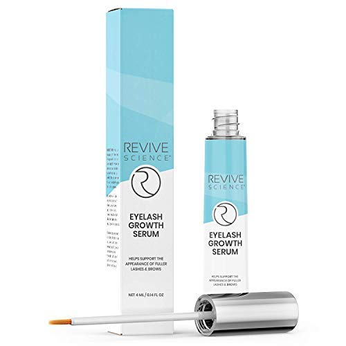 Revive Science Eyelash Growth Serum & Eyebrow Enhancer - Lash Boost Serum with Biotin, Vitamin E & Collagen - Rapid Lash Lift for Thicker & Longer Eyelashes For Women - 4 ML
