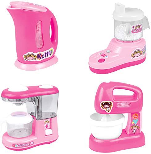 PowerTRC Kitchen Appliance Playset for Kids, Kettle, Juicer, Coffee Maker, Mixer, Kitchen Accessories Missouri