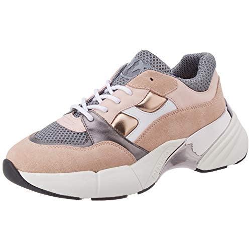 Pinko Rubino 3, Sneaker Infilare Donna, Multicolore (Rosa/Grigio Ni1), 39 EU