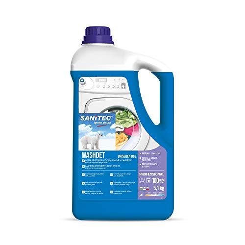 Washdet - Detergente Liquido per Bucato a Mano e in Lavatrice - Bianchi e Colorati - Orchidea Blu - 5,1 kg